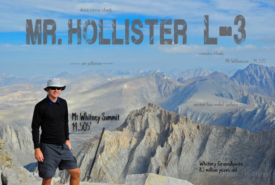 Mr H on Mt Whitney